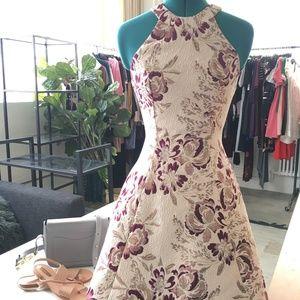 "Dress the Population ""Hannah Brocade"" Halter Dress"